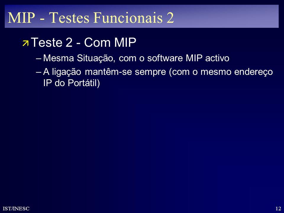 MIP - Testes Funcionais 2