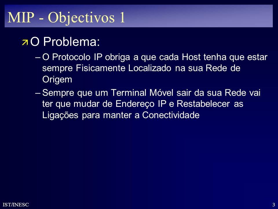 MIP - Objectivos 1 O Problema: