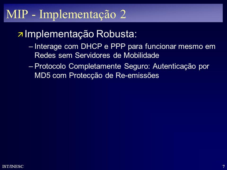 MIP - Implementação 2 Implementação Robusta:
