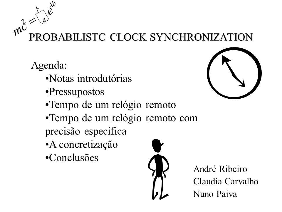 PROBABILISTC CLOCK SYNCHRONIZATION