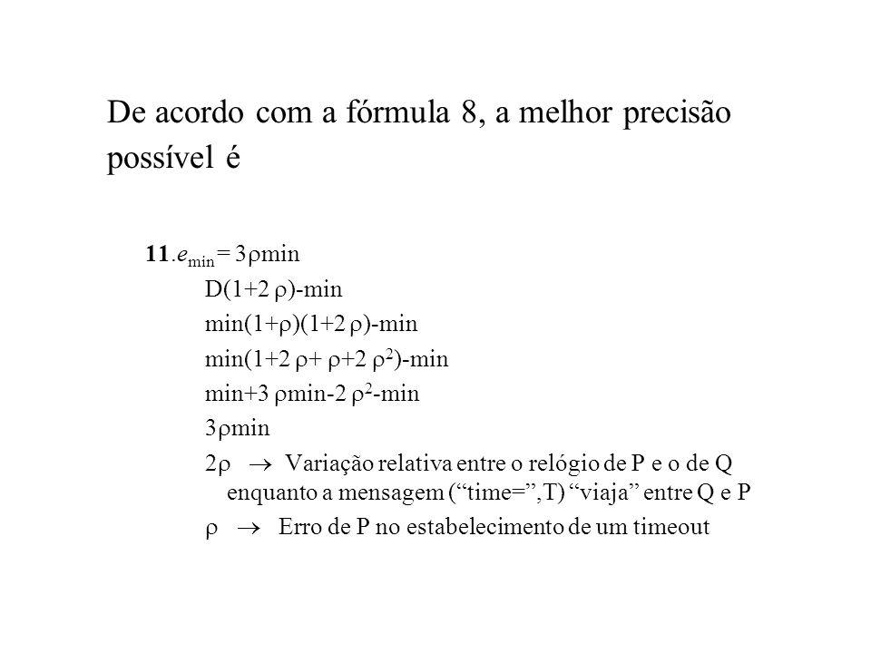 De acordo com a fórmula 8, a melhor precisão possível é