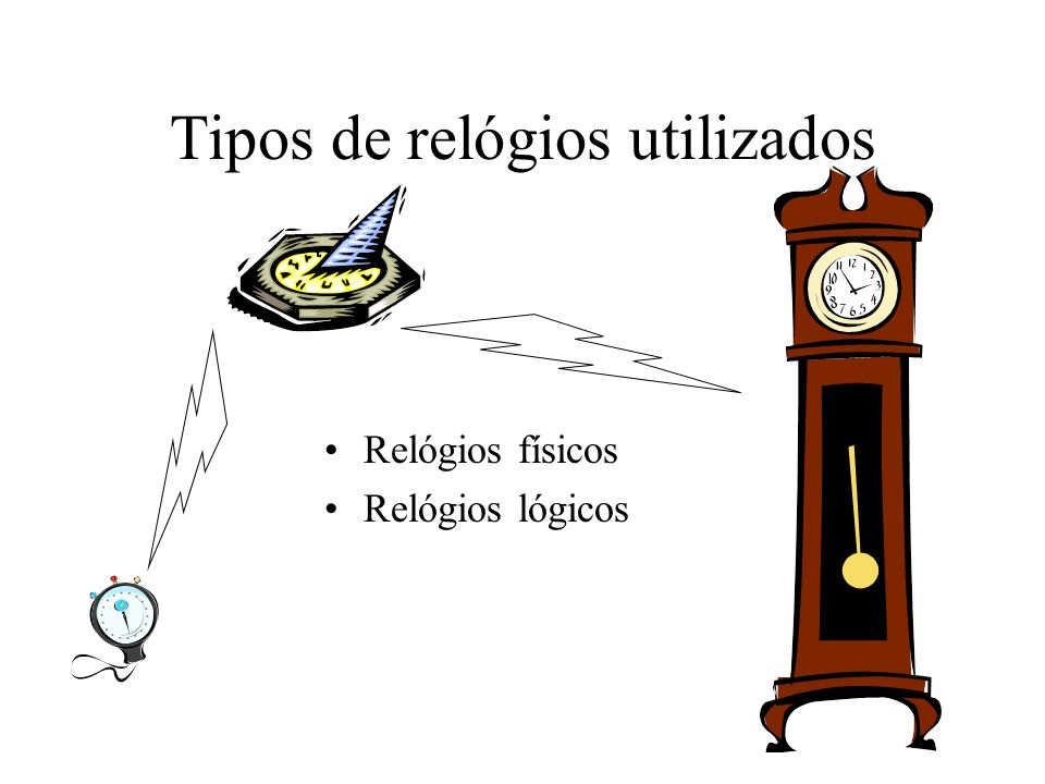 Tipos de relógios utilizados