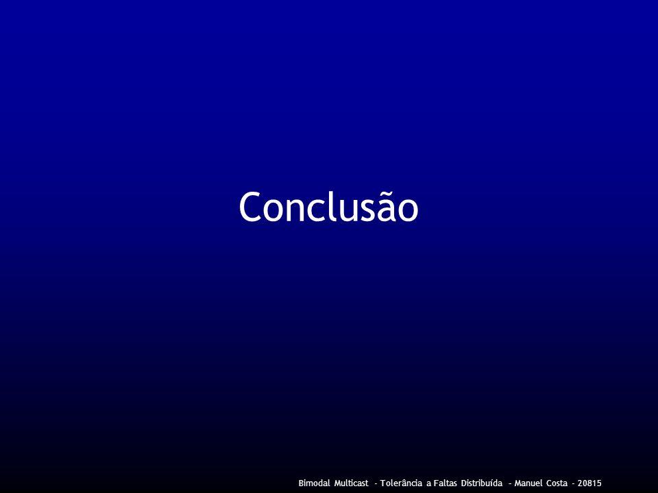 Conclusão Bimodal Multicast - Tolerância a Faltas Distribuída – Manuel Costa - 20815