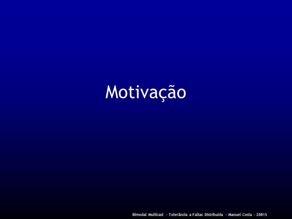 Motivação Bimodal Multicast - Tolerância a Faltas Distribuída – Manuel Costa - 20815