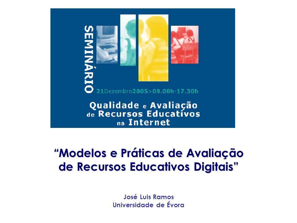 Modelos e Práticas de Avaliação de Recursos Educativos Digitais