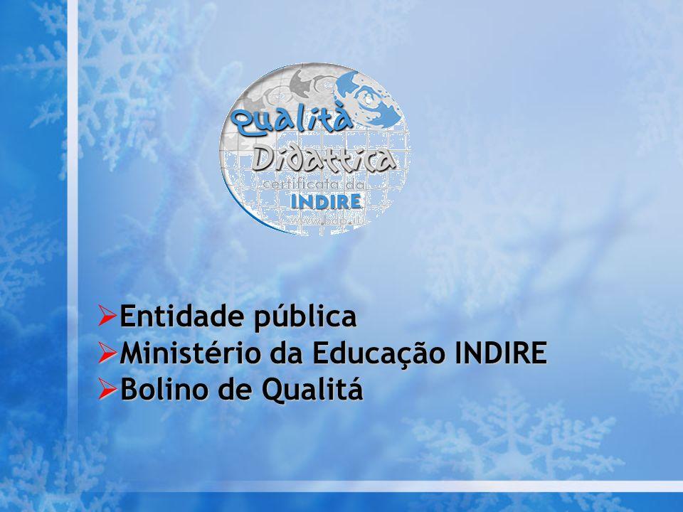 Ministério da Educação INDIRE Bolino de Qualitá