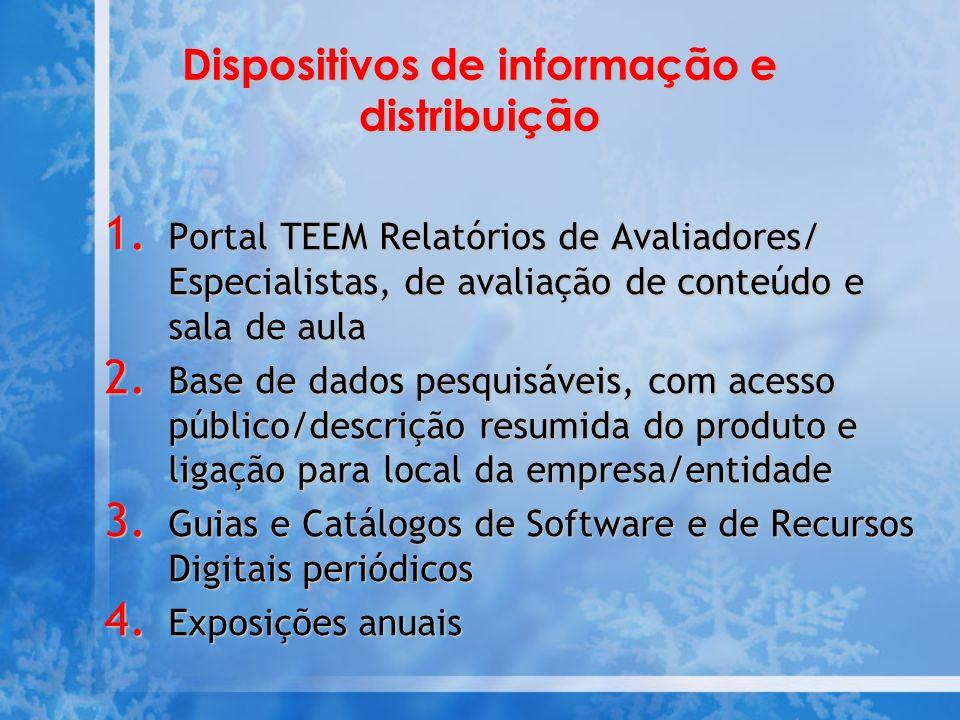 Dispositivos de informação e distribuição