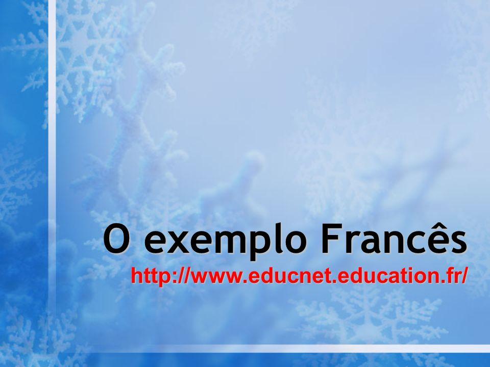 O exemplo Francês http://www.educnet.education.fr/