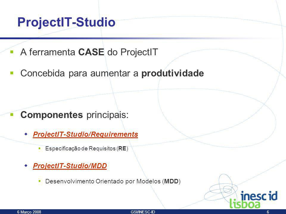 ProjectIT-Studio A ferramenta CASE do ProjectIT
