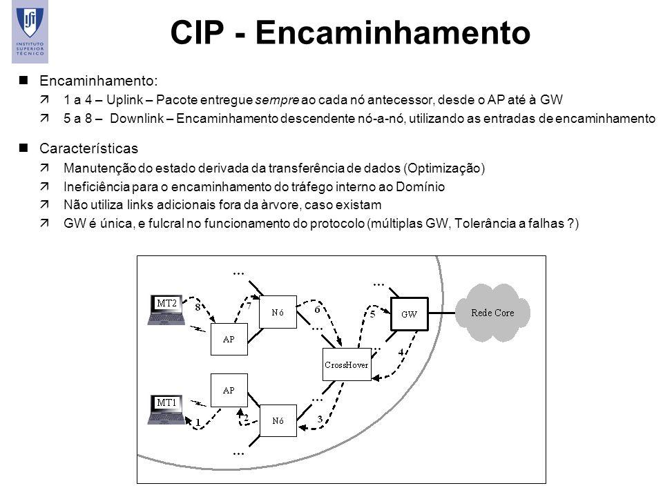 CIP - Encaminhamento Encaminhamento: Características