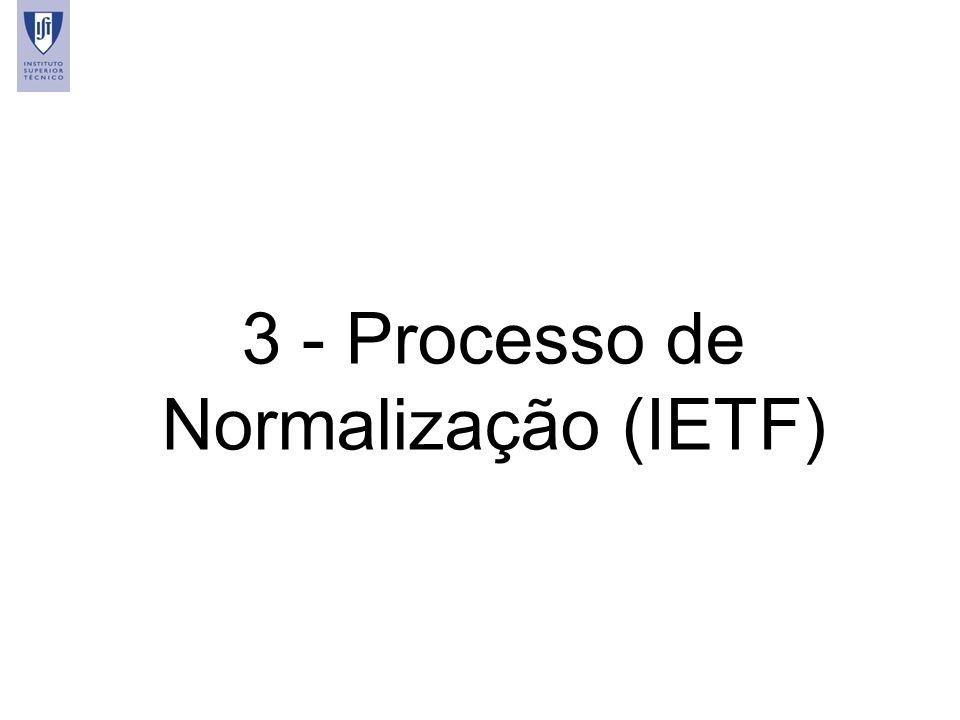 3 - Processo de Normalização (IETF)