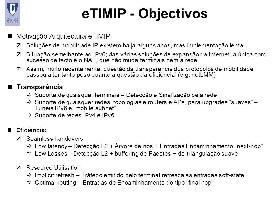 eTIMIP - Objectivos Motivação Arquitectura eTIMIP Transparência