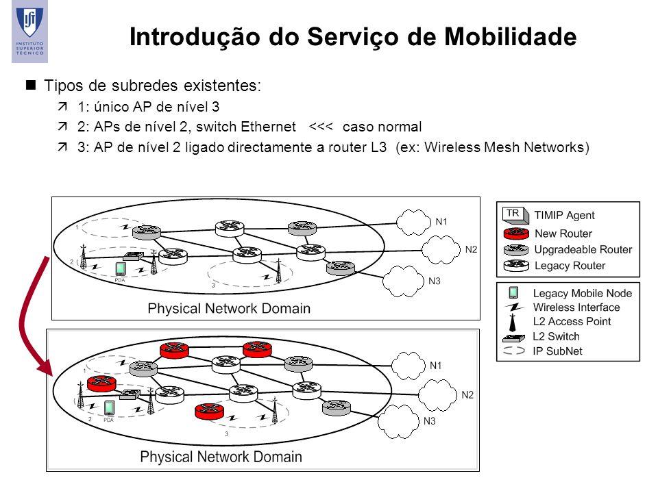 Introdução do Serviço de Mobilidade