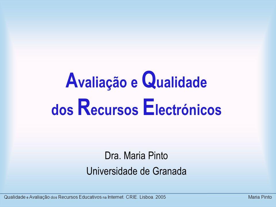 Avaliação e Qualidade dos Recursos Electrónicos