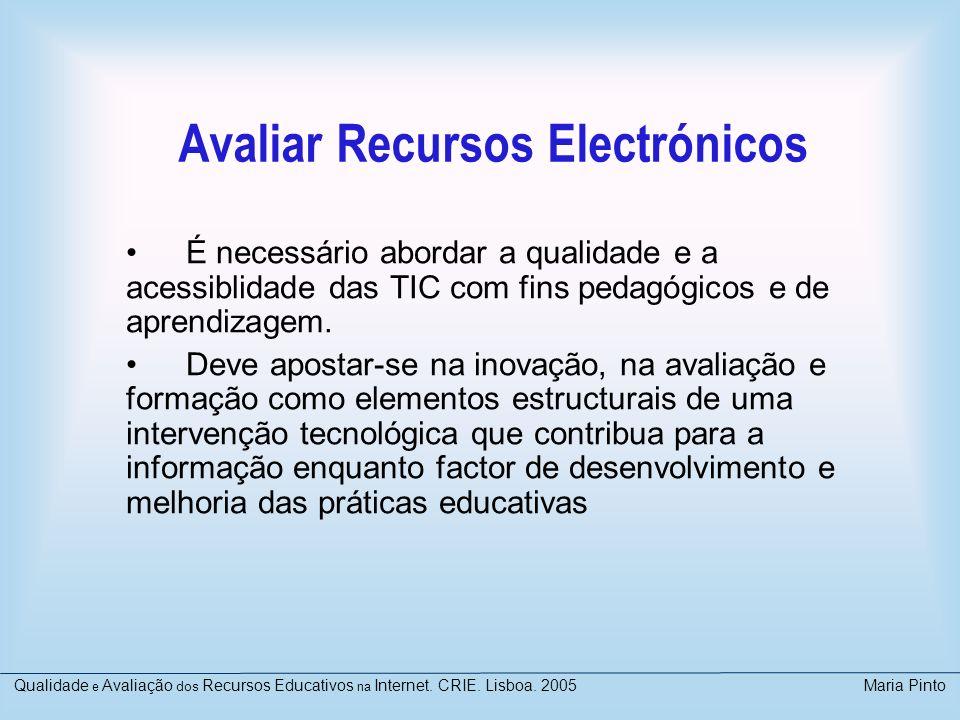 Avaliar Recursos Electrónicos