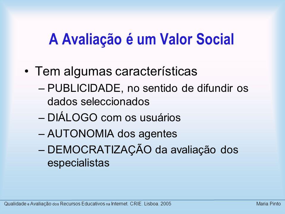 A Avaliação é um Valor Social