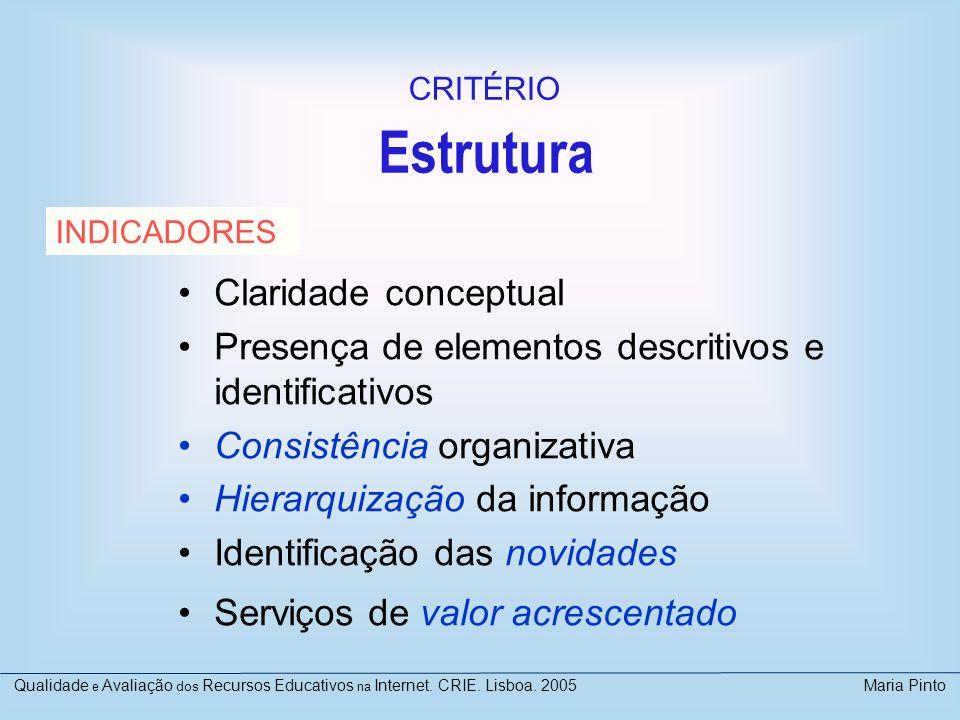 Estrutura Claridade conceptual