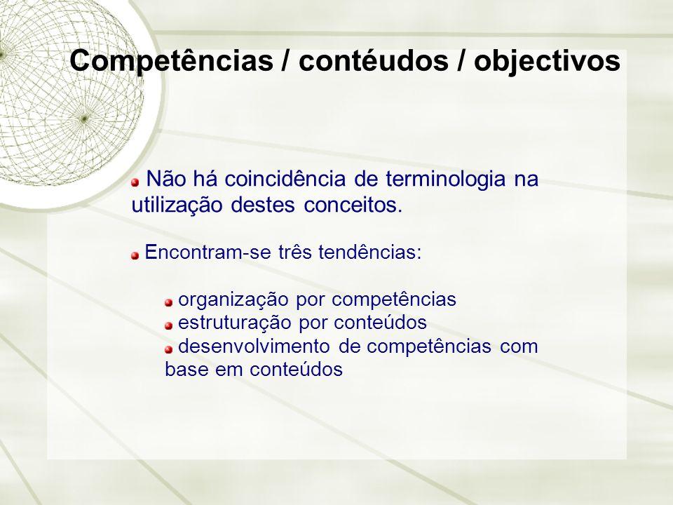 Competências / contéudos / objectivos