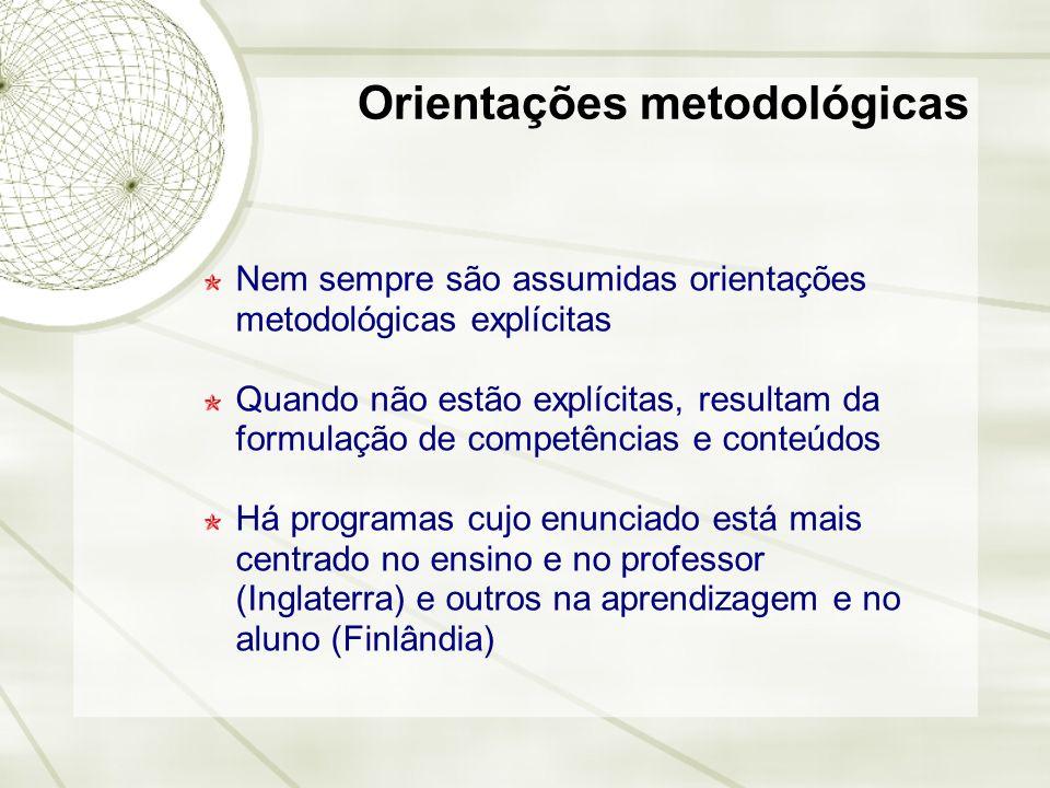 Orientações metodológicas