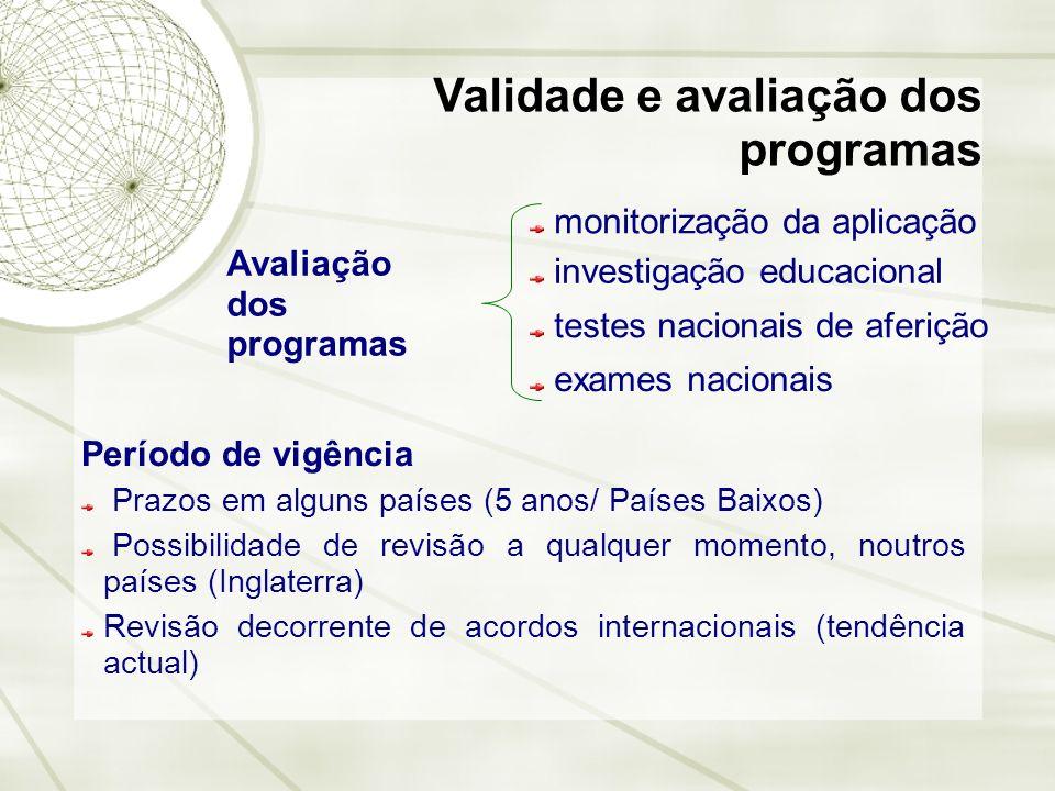 Validade e avaliação dos programas