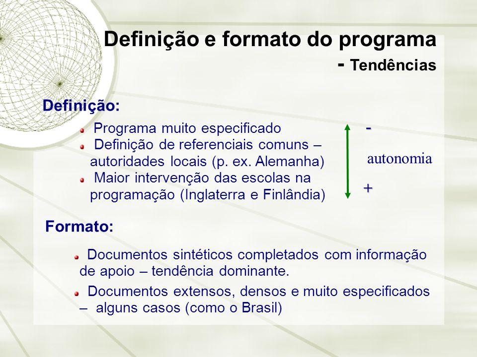 Definição e formato do programa - Tendências