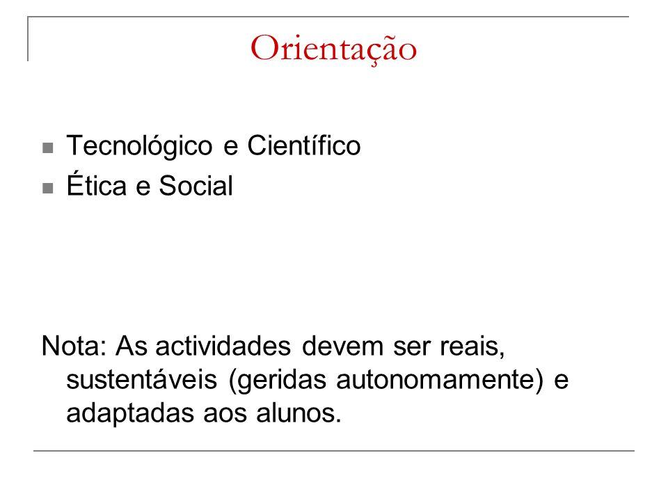 Orientação Tecnológico e Científico Ética e Social