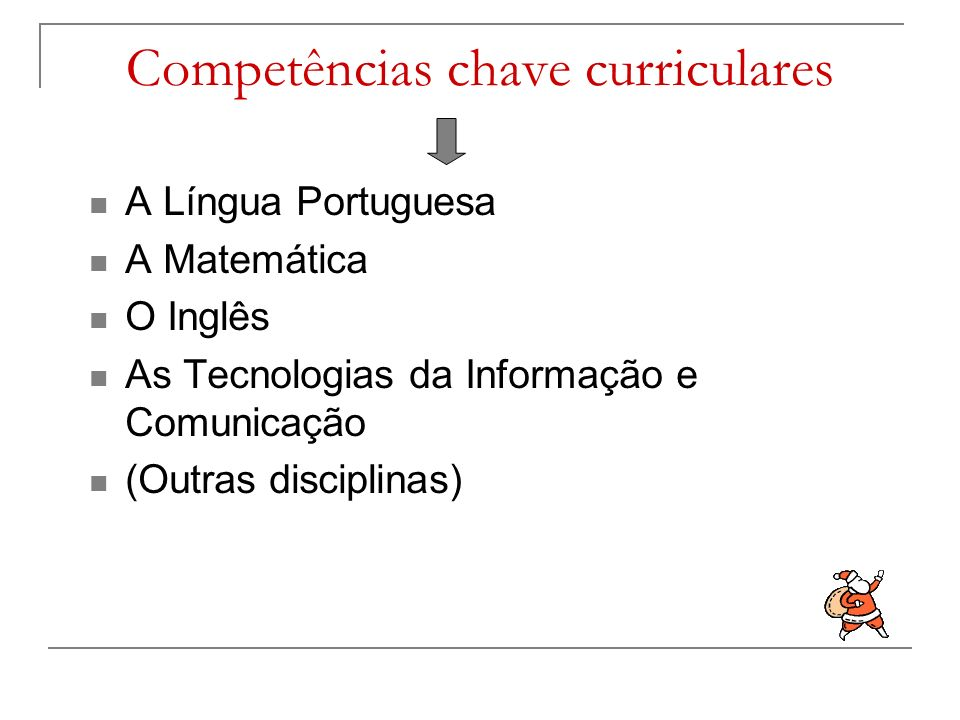 Competências chave curriculares