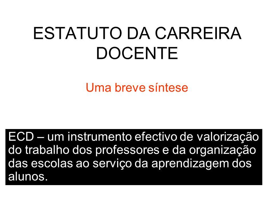 ESTATUTO DA CARREIRA DOCENTE