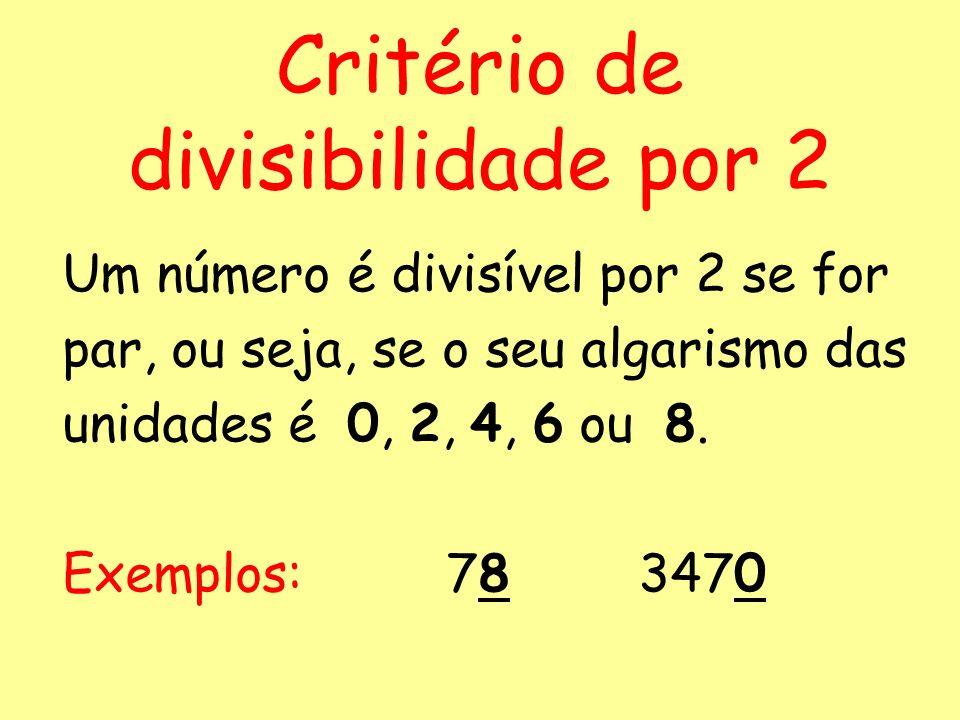 Critério de divisibilidade por 2