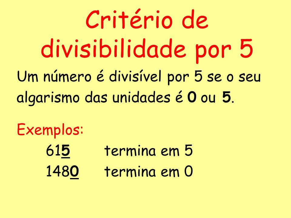 Critério de divisibilidade por 5