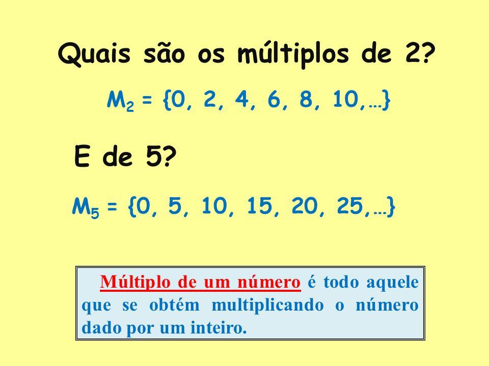 Quais são os múltiplos de 2