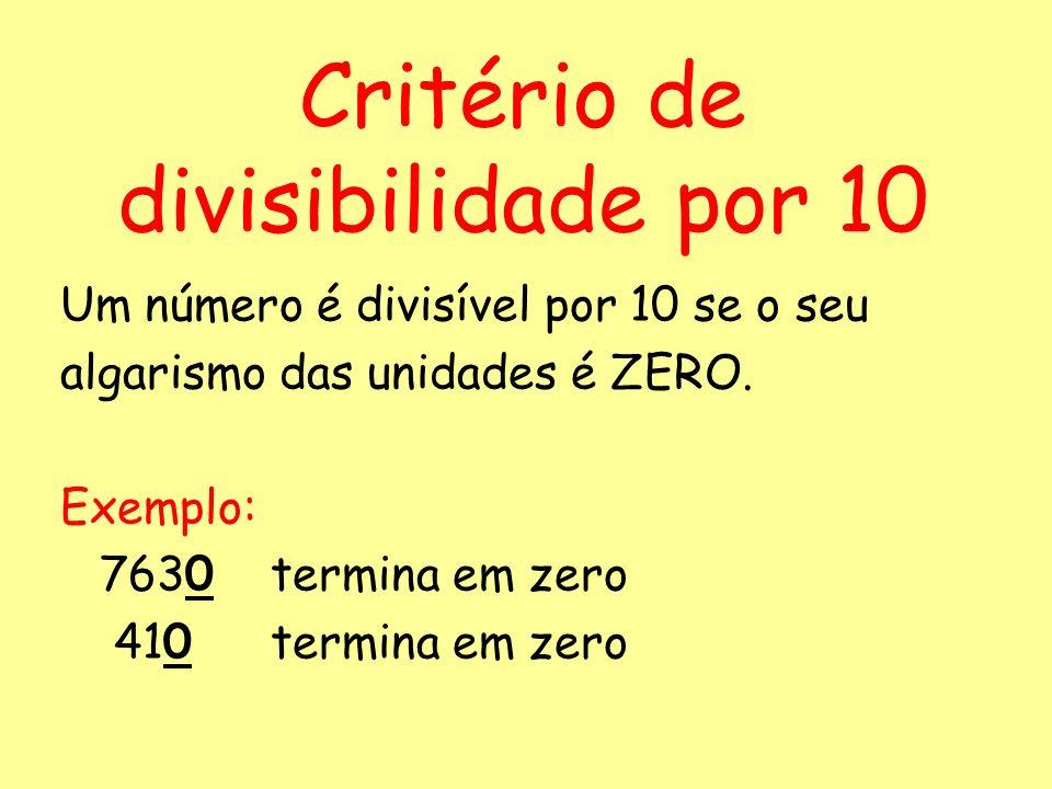 Critério de divisibilidade por 10