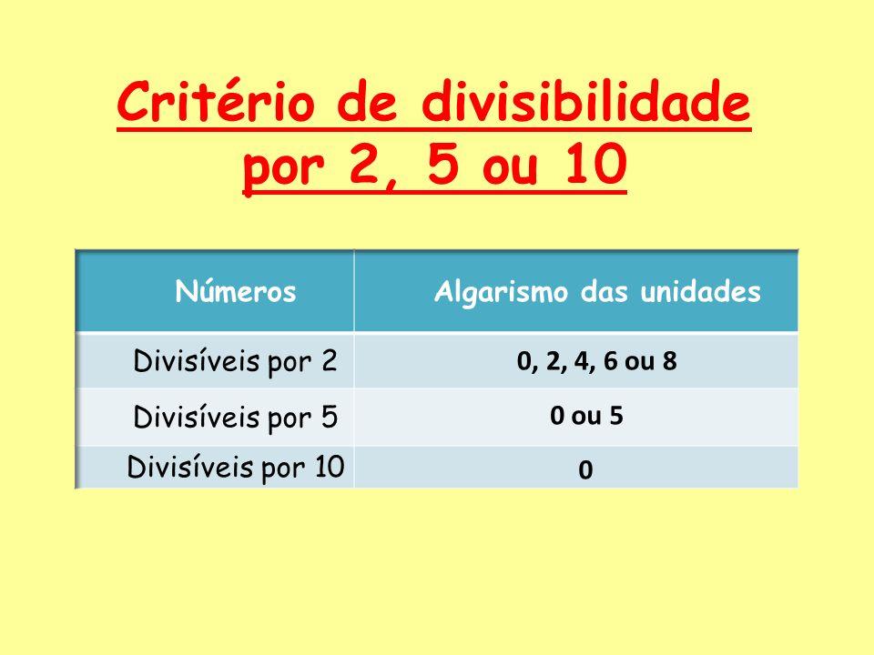 Critério de divisibilidade por 2, 5 ou 10