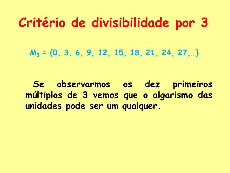 Critério de divisibilidade por 3