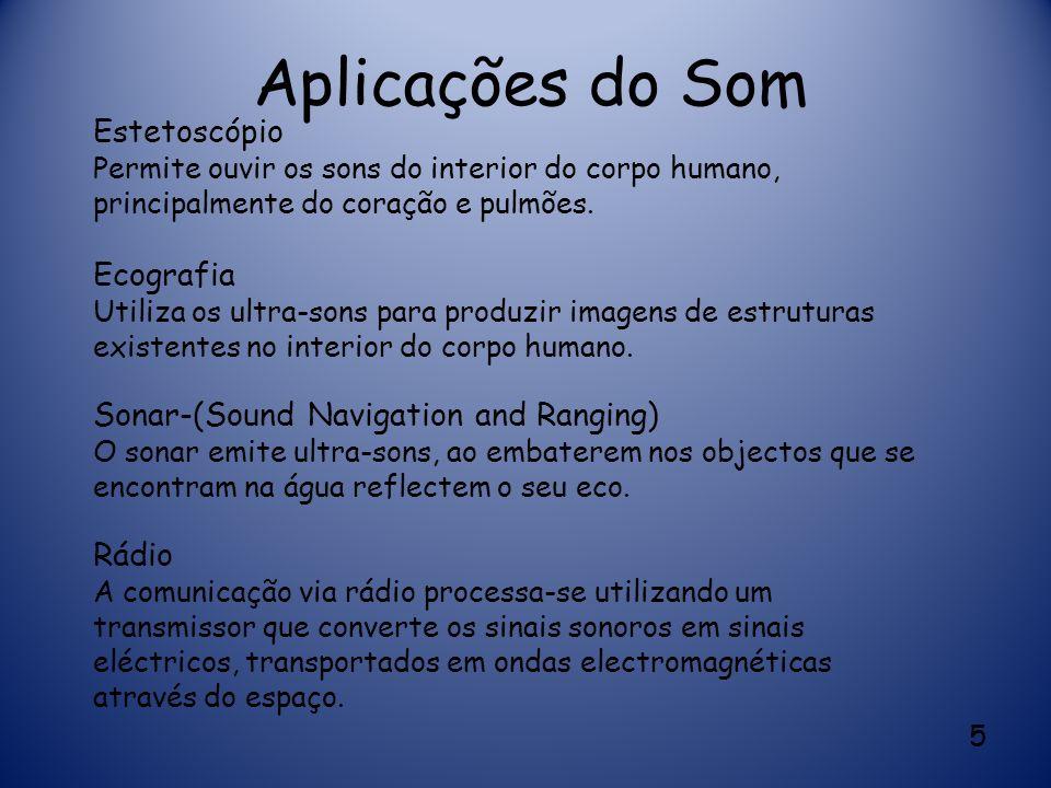 Aplicações do Som Estetoscópio Ecografia