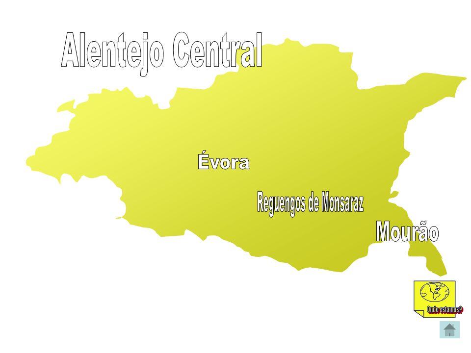 Alentejo Central Évora Reguengos de Monsaraz Mourão Onde estamos