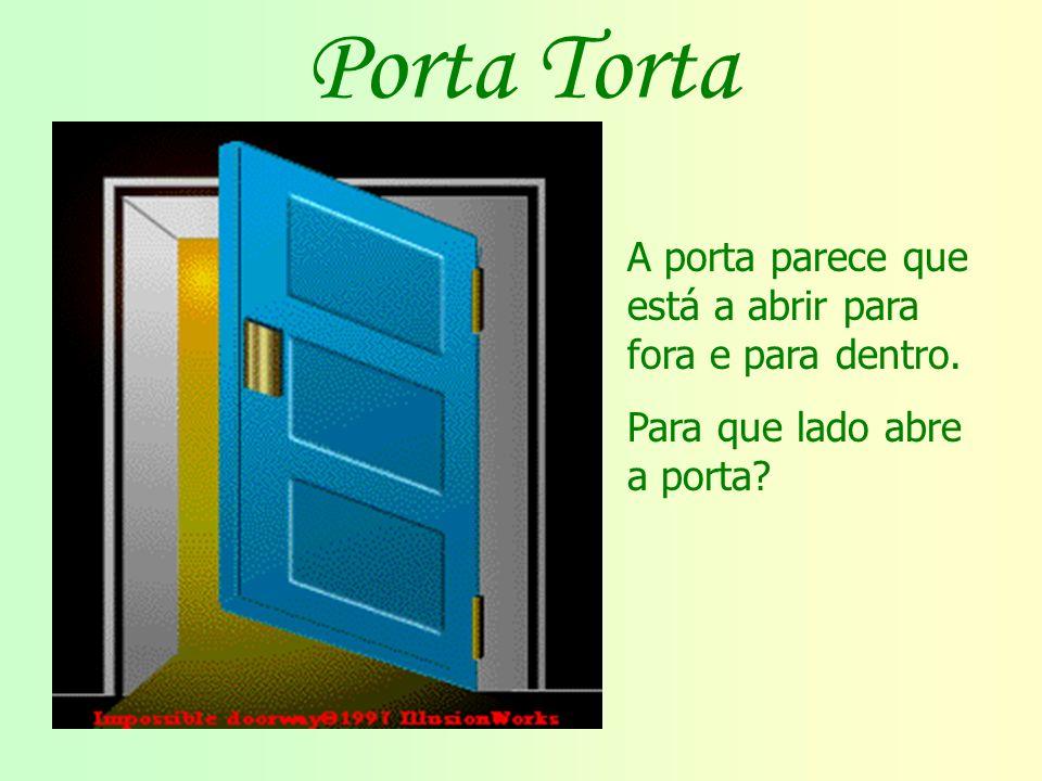 Porta Torta A porta parece que está a abrir para fora e para dentro.