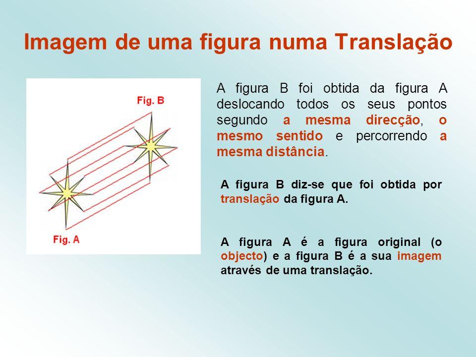 Imagem de uma figura numa Translação