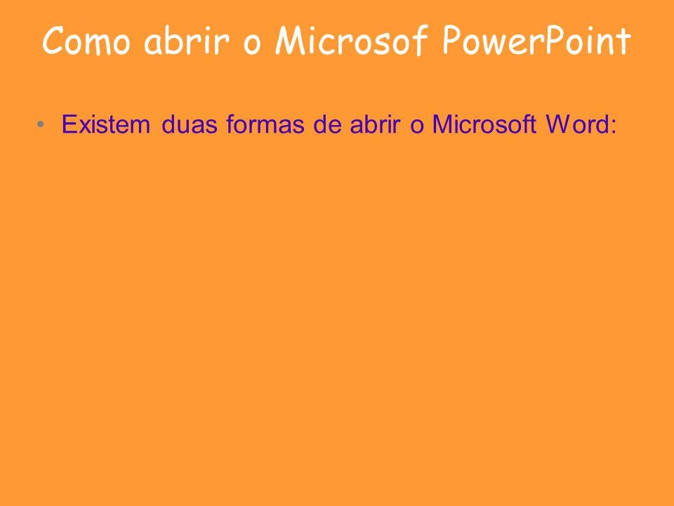 Como abrir o Microsof PowerPoint
