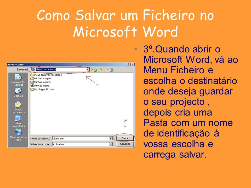 Como Salvar um Ficheiro no Microsoft Word