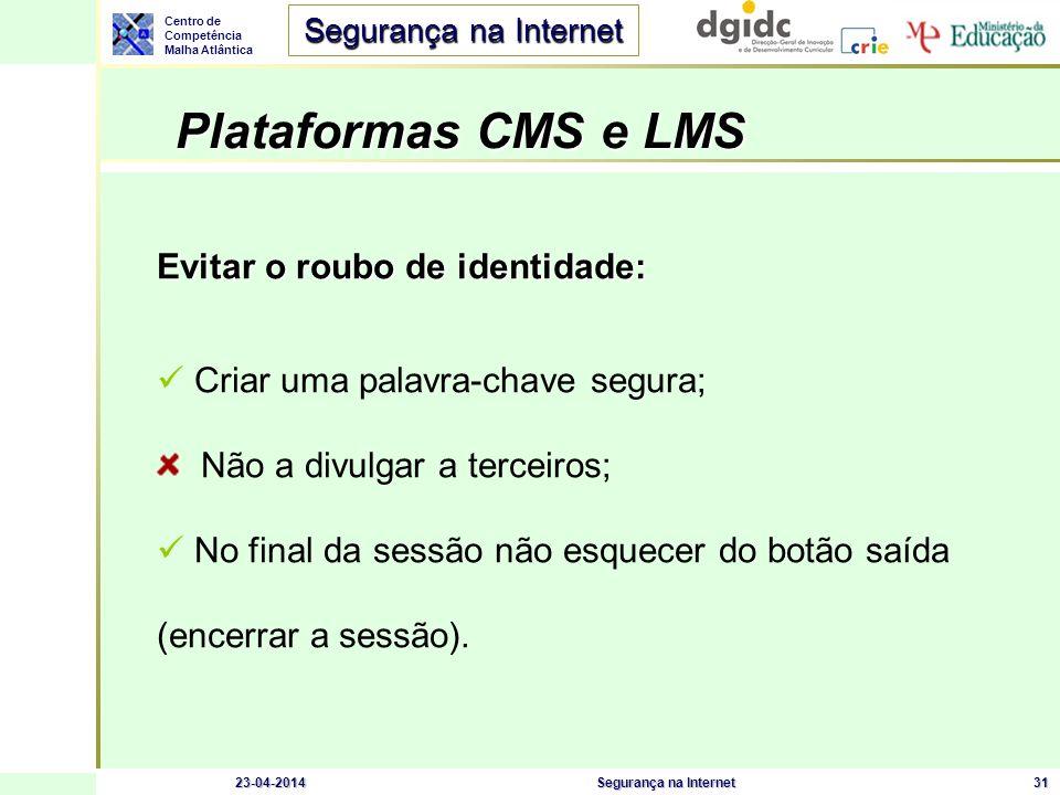 Plataformas CMS e LMS Evitar o roubo de identidade: