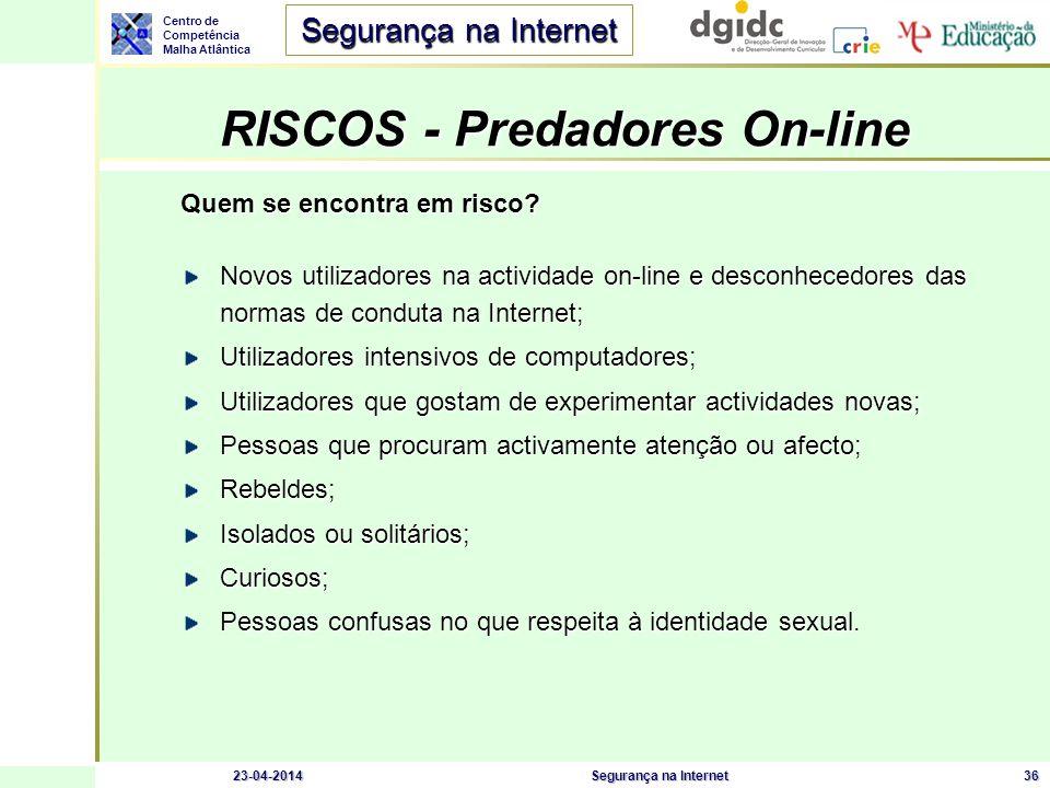 RISCOS - Predadores On-line