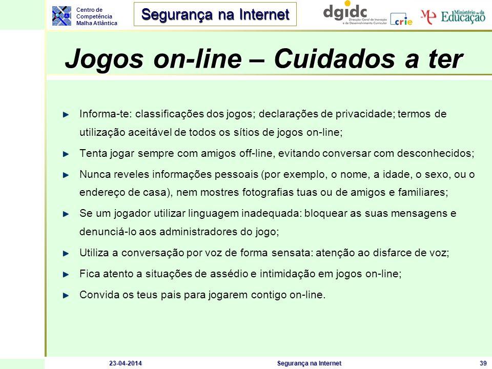 Jogos on-line – Cuidados a ter