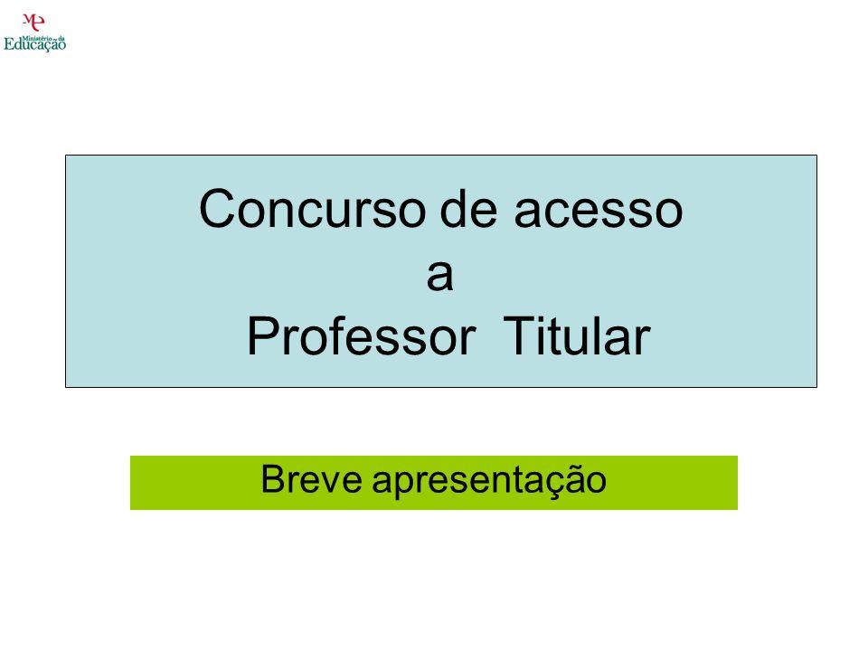 Concurso de acesso a Professor Titular