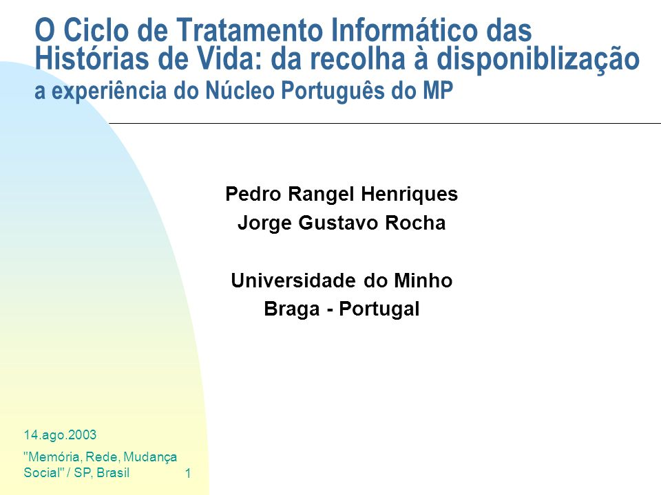Pedro Rangel Henriques
