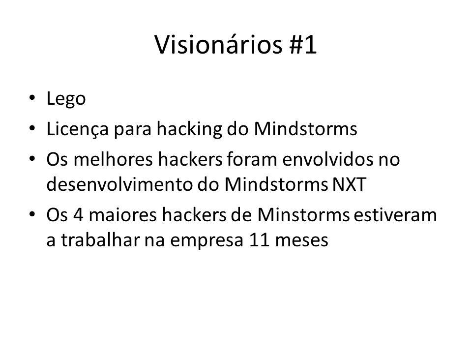 Visionários #1 Lego Licença para hacking do Mindstorms