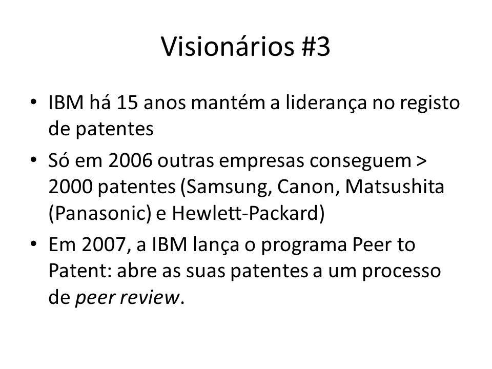 Visionários #3 IBM há 15 anos mantém a liderança no registo de patentes.