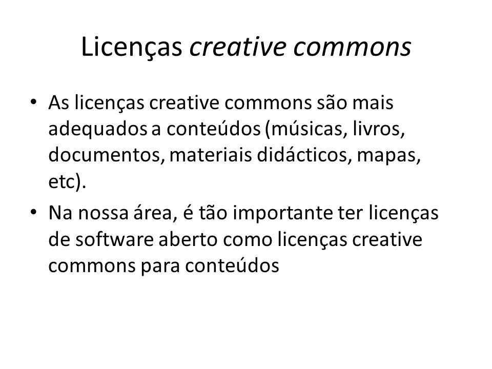 Licenças creative commons
