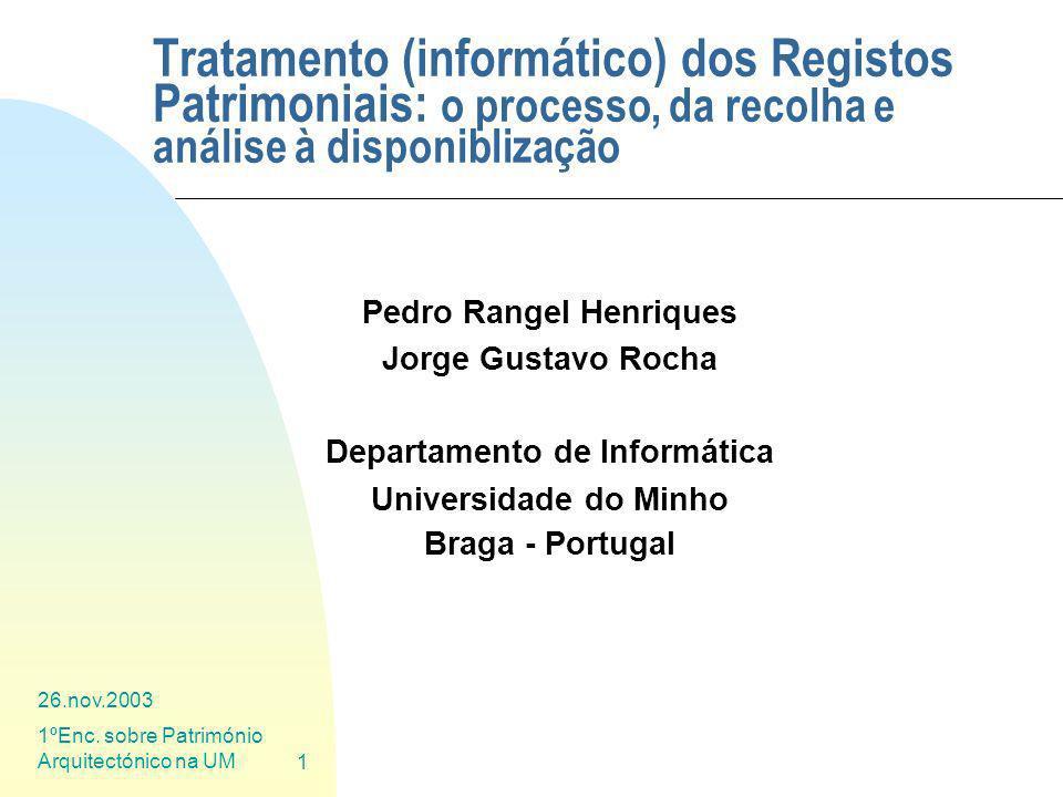 Pedro Rangel Henriques Departamento de Informática