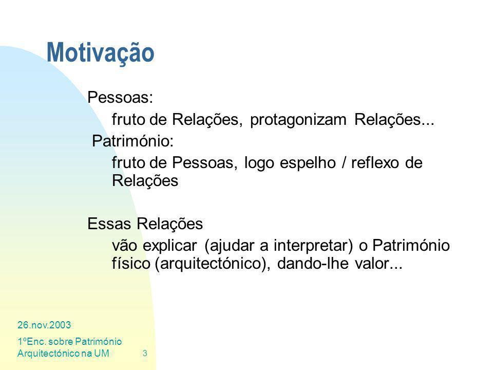 Motivação Pessoas: fruto de Relações, protagonizam Relações...